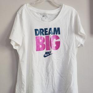 Other - Dream Big White Nike Tee